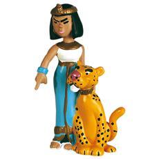 60513 - Asterix - Cleopatra Con La Pantera Altezza 6,9 Cm