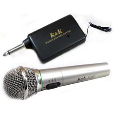 Microfono amatoriale wireless per karaoke canto pianobar
