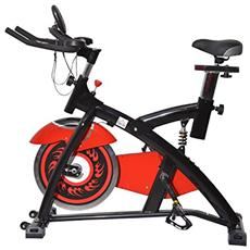 Bicicletta da spinning o spin bike indoor con display a led rosso
