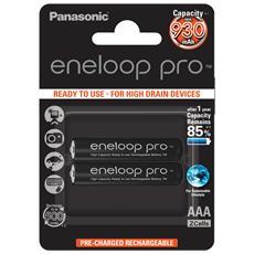 1x2 Panasonic Eneloop Pro Micro AAA 930 mAh