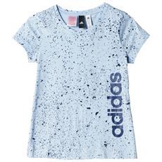 T-shirt Ragazza Essential Linear Printed 7a / 8a Azzurro Fantasia