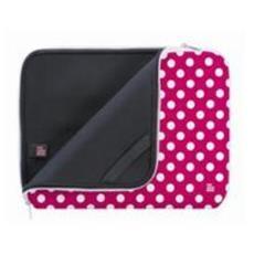 "Pink Polka Dot Sleeve 9"" Custodia a tasca Rosa, Bianco"