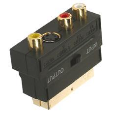 SCART / S-VHS - 3x RCA, SCART, S-VHC + 3x RCA, Oro, Nero