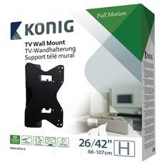 König KNM-MFM10, 100 x 100, 200 x 100, 200 x 200, 400 x 200, 400 x 400, 600 x 400 mm, Nero, 0 - 15°, Metallo, Scatola