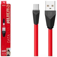 Cavo Aliens Data USB / Micro-USB Rosso