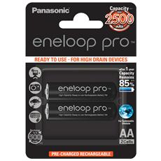 1x2 Panasonic Eneloop Pro Mignon AA 2500mAh