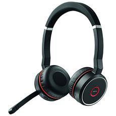 JABRA - Cuffie Wireless Evolve 75 UC Stereo Bluetooth Colore Nero e Rosso b2a4c6f69085