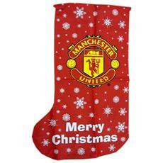 Calza Natalizia Con Stemma Manchester United (taglia Unica) (rosso)