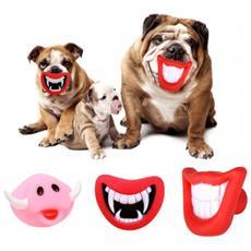 15968 Gioco Da Mordere Per Cani Smile Con Suono In Gomma Naturale - Muso Di Cinghiale