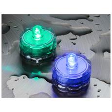 2 Tea Light Sommergibili Luce Multicolor Luci Decorazione Casa Interno Natale
