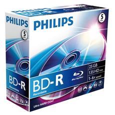 Qualità e capacità 5 volte superiore rispetto ai DVD. 25 GB o 135 minuti di memorizzazione video HD. 6x 25 GB / 135 min single layer.