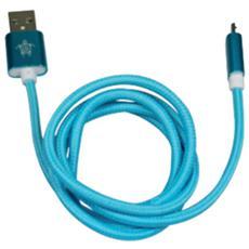 Cavo Micro USB in Corda A Maschio / B Maschio 1 m Colore Blu