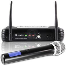 Microfono wireless professionale in VHF con uscita bulanciata XLR e led per karaoke canto pianobar teatri