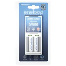 Panasonic Eneloop Compact BQCC50 Charger incl. 1x2 AA Mignon Accus