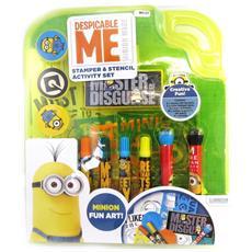 pad set di cancelleria + penne '' blu giallo (25 pezzi) - [ m8323]