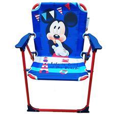 ® Sedia Pieghevole Topolino Mickey Mouse Disney Blu Rosso Per Bambini Bimbi Bambino Campeggio Cameretta Mare Spiaggia Giardino In Metallo E Plastica Con Braccioli Portatile Struttura Leggera 53x38x39 Cm