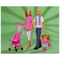 Steffi Love, Ragazza, Multicolore, Baby carrier, Certificato di nascita della bambola, Male & Female