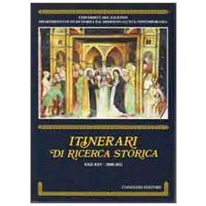 Itinerari di ricerca storica (2008-2011) vol. 22-25