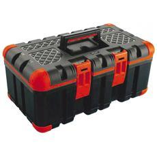 Cassetta portautensili in plastica con maniglia e portaminuteria 50,5x30x22