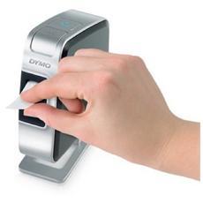 Etichettatrice Portatile USB Formato 8 x 12 mm Schermo LCD 12 mm / s Nera e Argenta