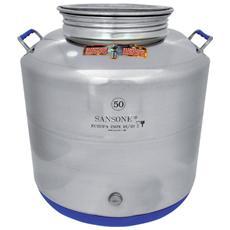Contenitore in acciaio inox 50 Lt per olio tipo saldato con tappo a vite