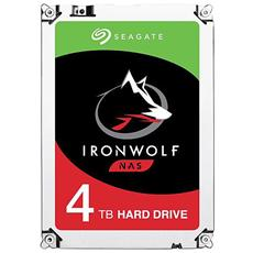 "Hard Disk IronWolf per NAS 4 TB 3,5"" Interfaccia Sata III 6 Gb / s 5900 rpm Buffer 32 MB"