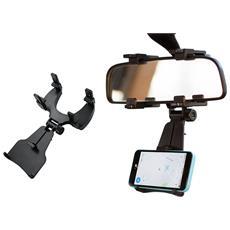 Supporto Smartphone Jhd97 Da Specchietto Retrovisore Porta Cellulare Universale Regolabile Stand Anti Urto Scivolo Gps