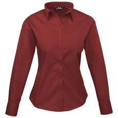 Camicia Maniche Lunghe Donna (it 54) (bordeaux)