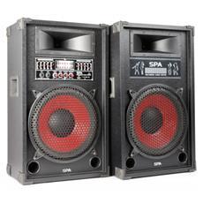 Coppia casse amplificate da karaoke o neo deejay, con ingresso usb-sd con equalizzatore