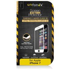 Pellicola protettiva in Vetro Temperato Curvo 3D per iPhone 7 - Nero