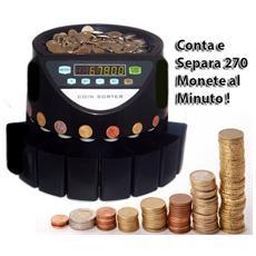 Contamonete Professionale Conta E Separa Monete Ad 8 Cassetti Separatore Di €