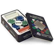 Confezione Latta Chips Poker Arredo