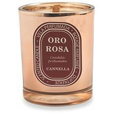 2410687 Candela Profumata Cannella, Oro / rosa, 10 X 10 X 12.5 Cm
