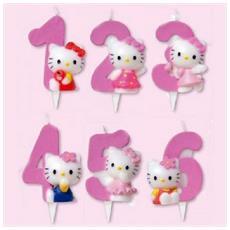 Candela Numerale Hello Kitty Per Torta Compleanno - 7