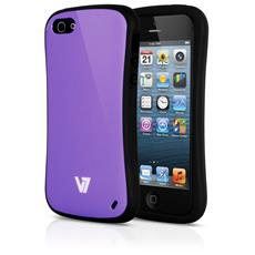 Extreme Guard Iphone5 / S Pur Bumper Hard Shell Pc Pu Cover Purpl
