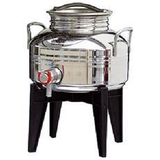 Contenitore in acciaio inox 5 Lt per olio con supporto in plastica