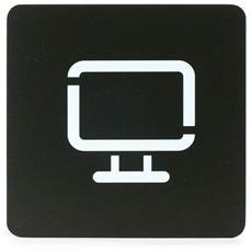 Segnaletica Targa Area Computer Tv Pittogrammi 16X16 Con Adesivo