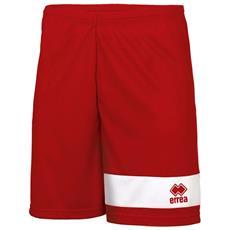 Short Calcio Marcus Rosso Bianco L