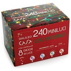 Minilucciole 240 Luci, Plastica, Multicolore