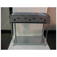 Barbecue A Gas Gpl 3 Fuochi Made In Italy Prodotto Artigianale Inox