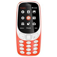 "3310 Rosso Dual Sim Display 2.4"" +Slot MicroSD con 3G + Bluetooth RadioFM e Fotocamera 2Mpx - Italia"