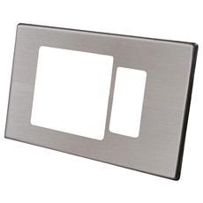 Placca Magic 2 Fori, Rettangolare, Alluminio