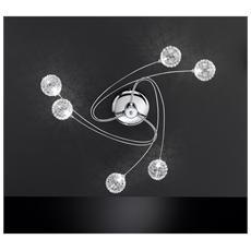 Plafoniera Astro In Metallo Cromato 6 Luci
