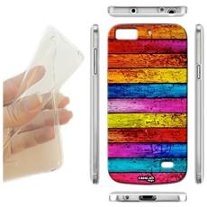 Cover Morbida Slim TPU Muro Di Legno per iPhone 6 Plus 6S Plus