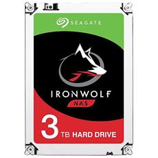 "Hard Disk IronWolf per NAS 3 TB 3,5"" Interfaccia Sata III 6 Gb / s 5900 Rpm Buffer 64 MB"