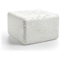 Puof Zoe Plastico Termofuso Bianco Componenti D'arredo Design