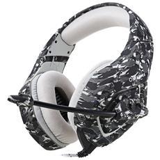 Onikuma K1 Stereo Gaming Headset 2.2 M Cavo Aspetto Mimetico Bass Cuffie Over-ear Con Microfono Per Computer Game