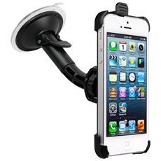 IPHONE-5-KFZ-HALTERU Auto Passive holder Nero supporto per personal communication
