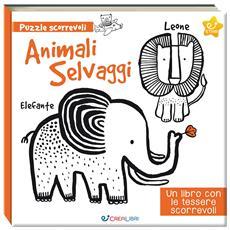 Animali Selvaggi (Libro+Puzzle Tessere Scorrevoli)