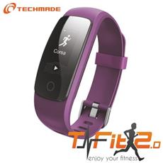"Activity Tracker T-Fit 2.0 Resistente all'acqua IP67 Display 0.96"" Bluetooth con GPS e Cardiofrequenzimetro Viola – Italia"
